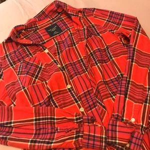 AEO American Eagle Outfitters Red Flannel MED